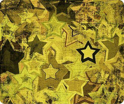Grunge Military Stars Thick Mouse Pad