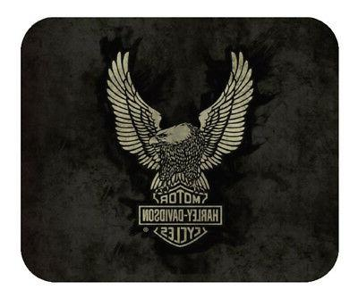 Harley-Davidson Up-Wing Eagle Graphic Mouse Pad, Thin Black