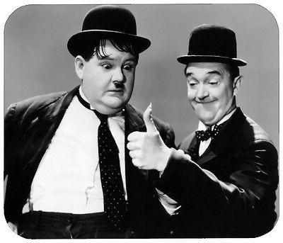 LAUREL AND HARDY MOUSE PAD - 1/4 IN. MOVIE TV MOUSEPAD RETRO