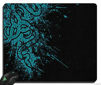 Large New Razer Speed Gaming Mouse Mat Pad BLACK & BLUE 17.4