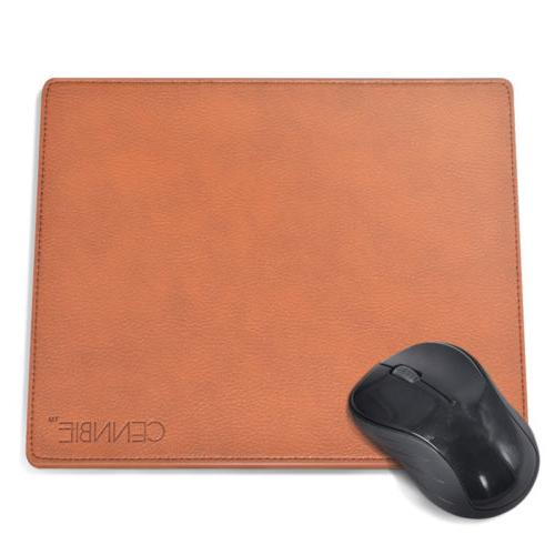 Leather Mouse Pad Mat Waterproof Non-slip Base with Stitched