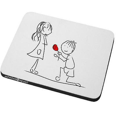 Marry Me? Mouse Pad Happy Valentines Day Wedding Anniversary