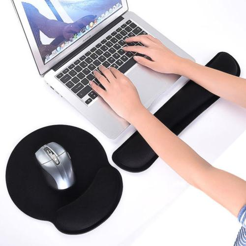 Memory Foam Keyboard Wrist Rest Pad and Silica Gel Mouse Pad