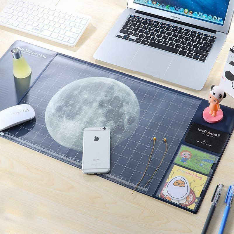 Moon/Starry Sky Pattern Plastic Desk Mouse Mat School And Of