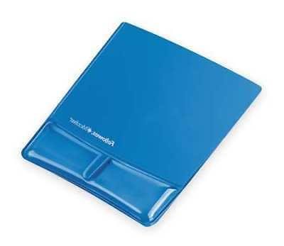 Mouse Pad w/Wrist Support,Blue,Standard FELLOWES 9182201