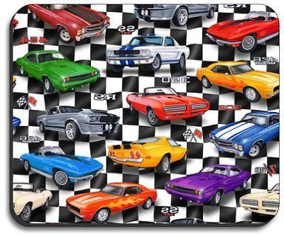 Muscle Cars - Art Plates brand Mouse Pad