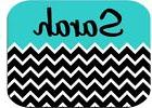PERSONALIZED MOUSE PAD BLACK CHEVRON BLUE TOP