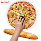 Soft PU Round Pizza Mouse Pad and Keyboard Rest Wrist Mat fo
