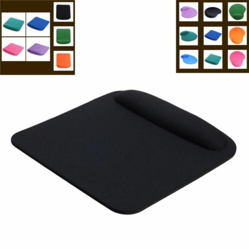 Square Mouse Pad With Wrist Rest  Fabric - 7 Colors 2018 New