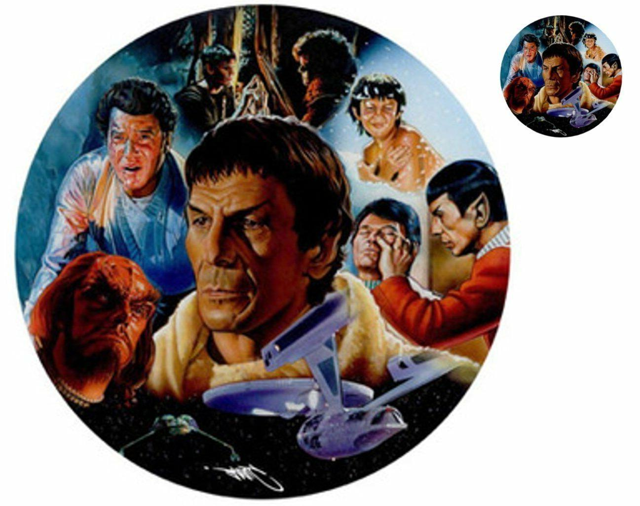 Star Trek Spock Round Mouse Pad with Matching Star Trek Stic