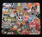 Sticker Bomb Collage Mouse Pad