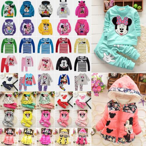 Toddler Kids Baby Girl Boys Mickey Minnie Mouse Hoodie Coat