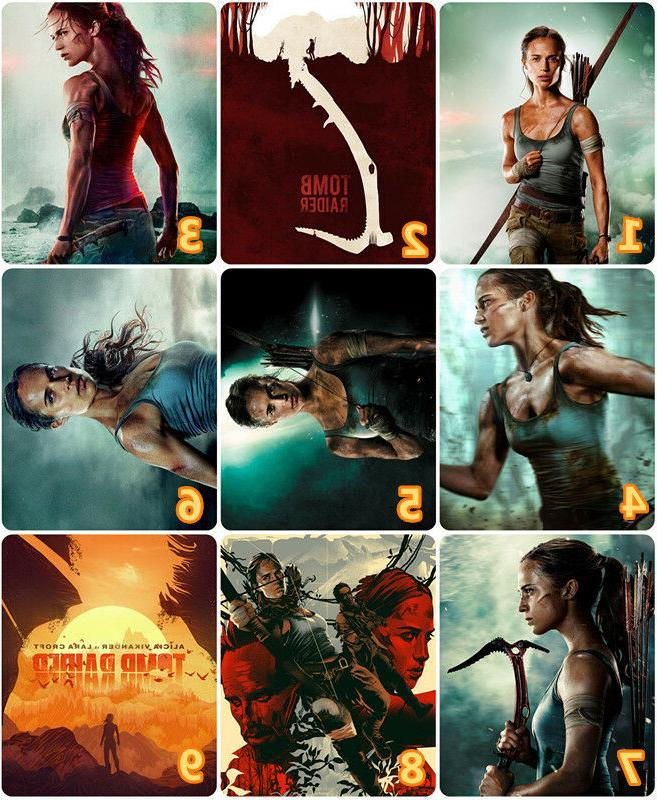 Tomb Raider Movie 2018 Rectangle Computer Table Mouse Pad Mo
