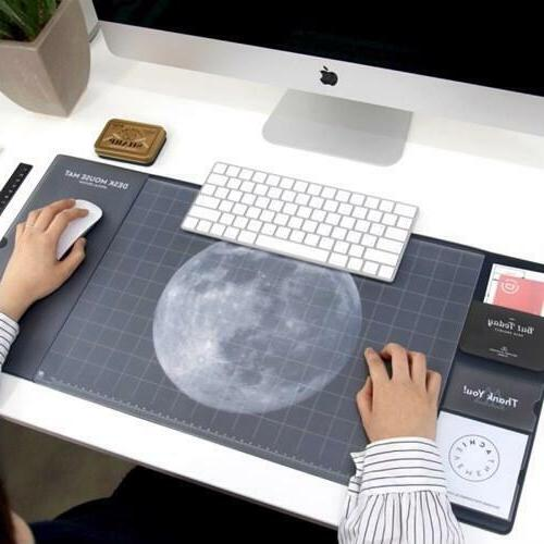 Universe/Galaxy Pattern Plastic Desk Mouse Mat School And Of