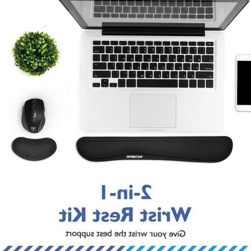 Victsing Memory Foam Non Slip Mouse Pad and Keyboard Wrist R