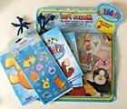 WEBKINZ LOT MOUSE PAD, 2 GIFT BAGS, STICKER PACK -BLUE GANZ