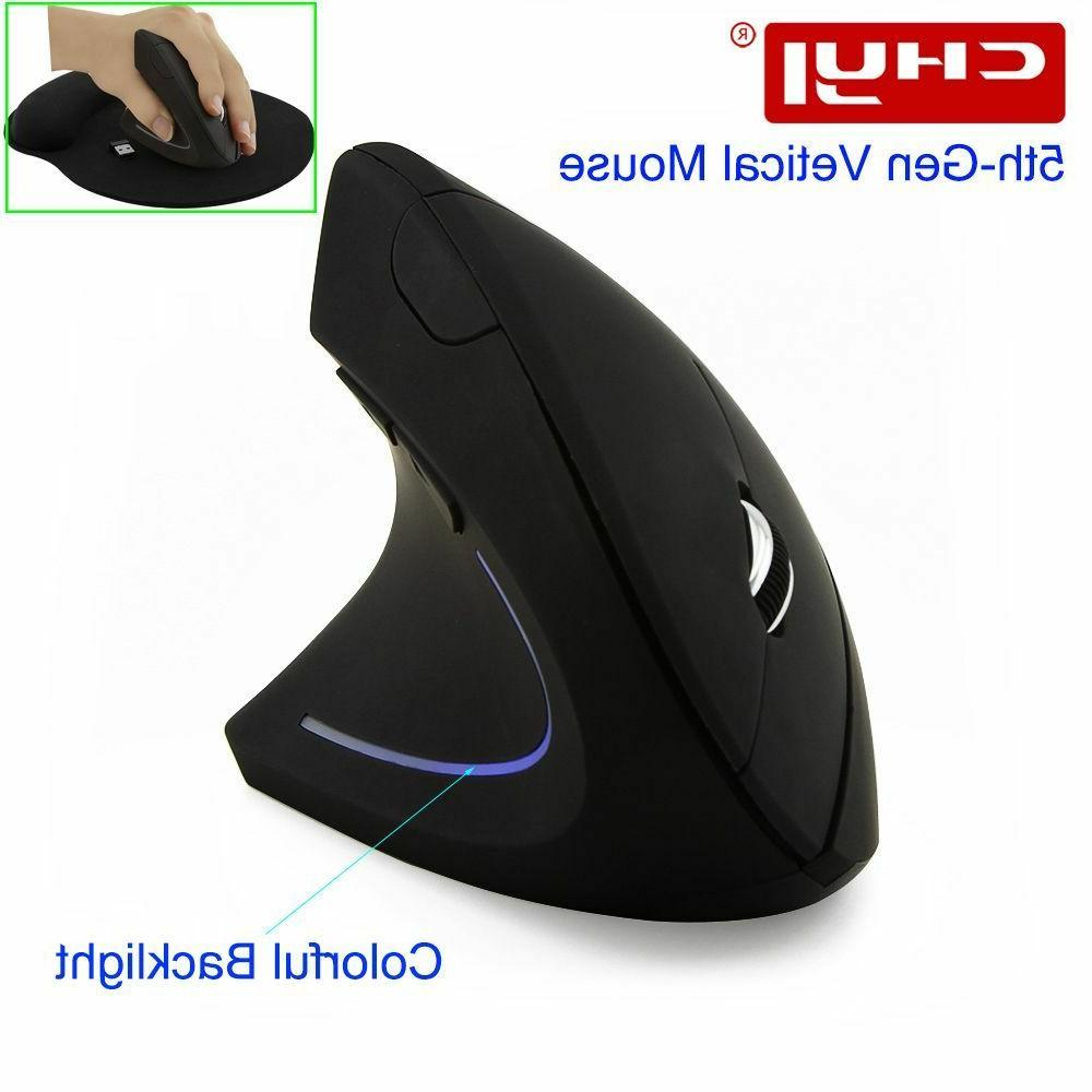 Wireless Vertical Mouse Optical 2.4G 800/1200/1600DPI Colorf