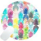 Wknoon Round Gaming Mouse Pad Custom Design, Abstract Hawaii