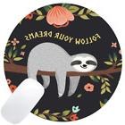 Wknoon Round Gaming Mouse Pad Custom Design, Follow Your Dre