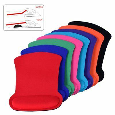 US Comfort Anti Slip Gel Mouse Mat with Rest Wrist Support P