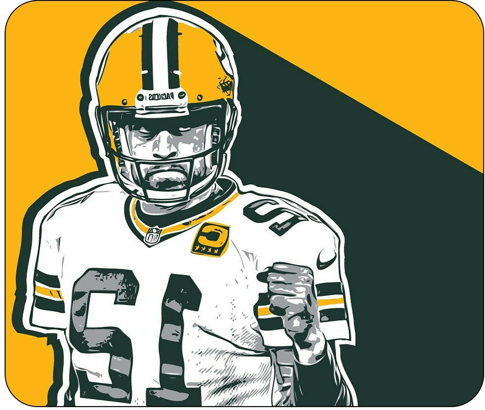 aaron rodgers desktop mouse pad 10 x