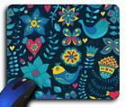 Birds and Flowers Rectangle Mouse Pad