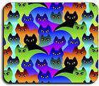 Art Plates brand Mouse Pad - Cat Silhouettes