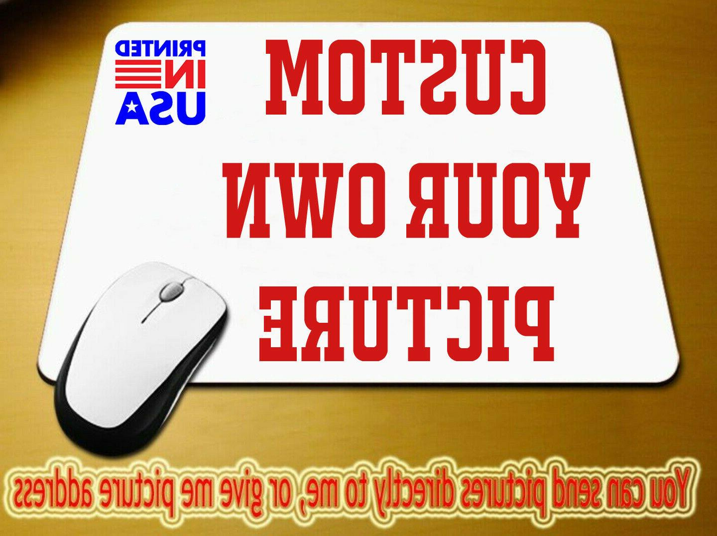 custom printed mouse pad photo logo design