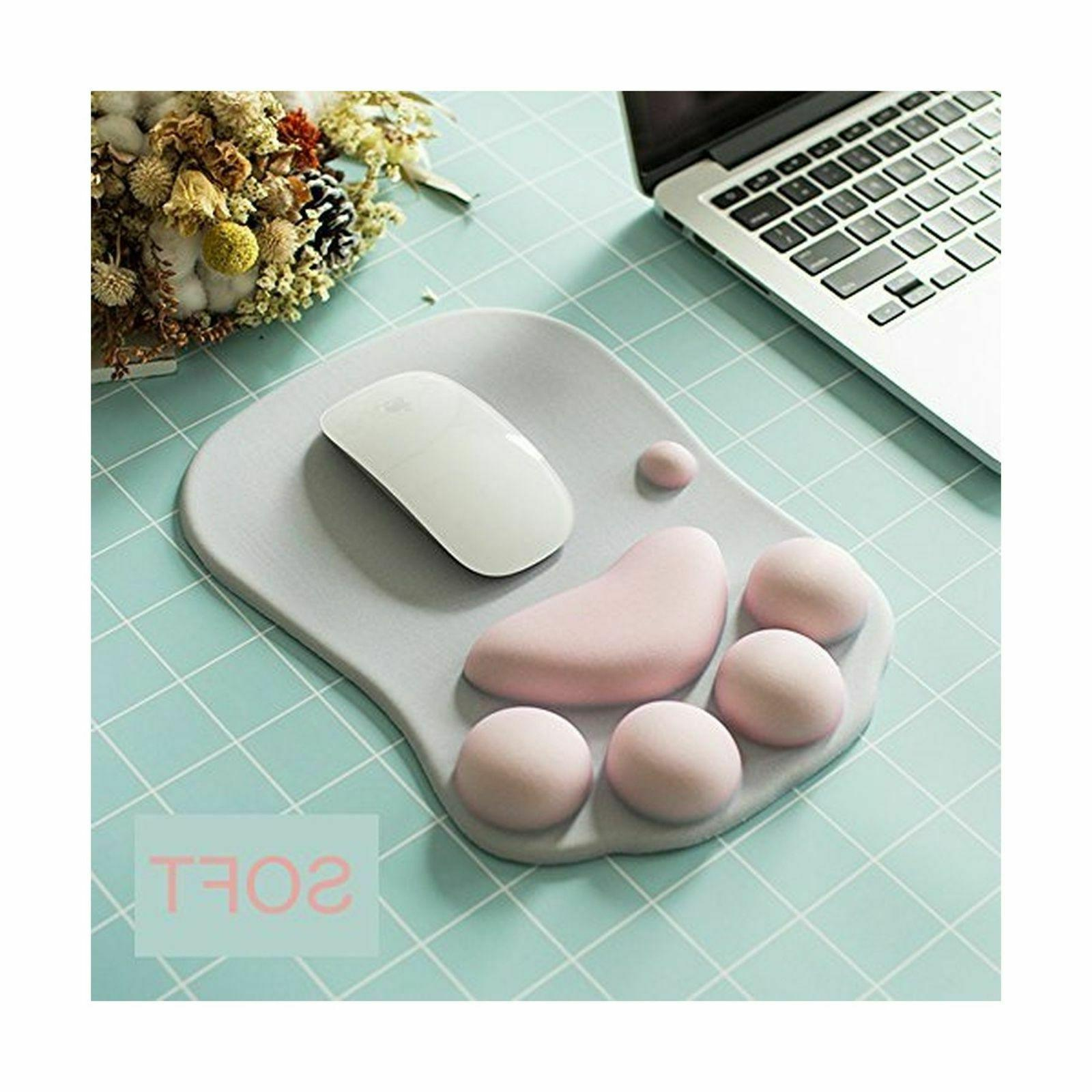 Cute Paw Silicone Wrist Wrist Cushion With Pink