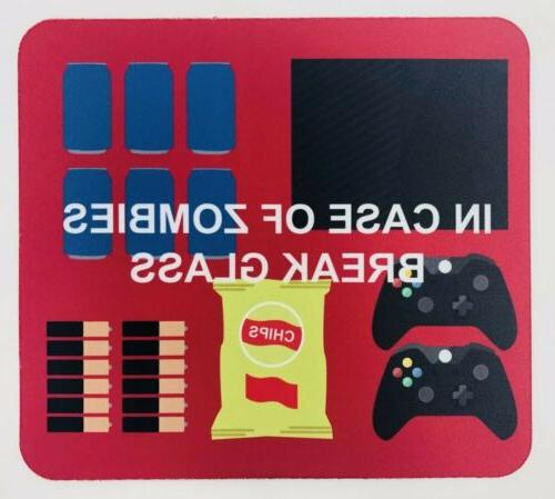 gaming mouse pad in case of zombies