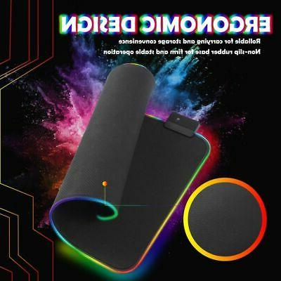 Gaming LED Pad Size Smooth Low-Friction