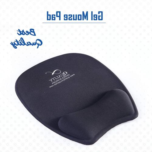 Quality Gel Mouse Pad Wrist Support black