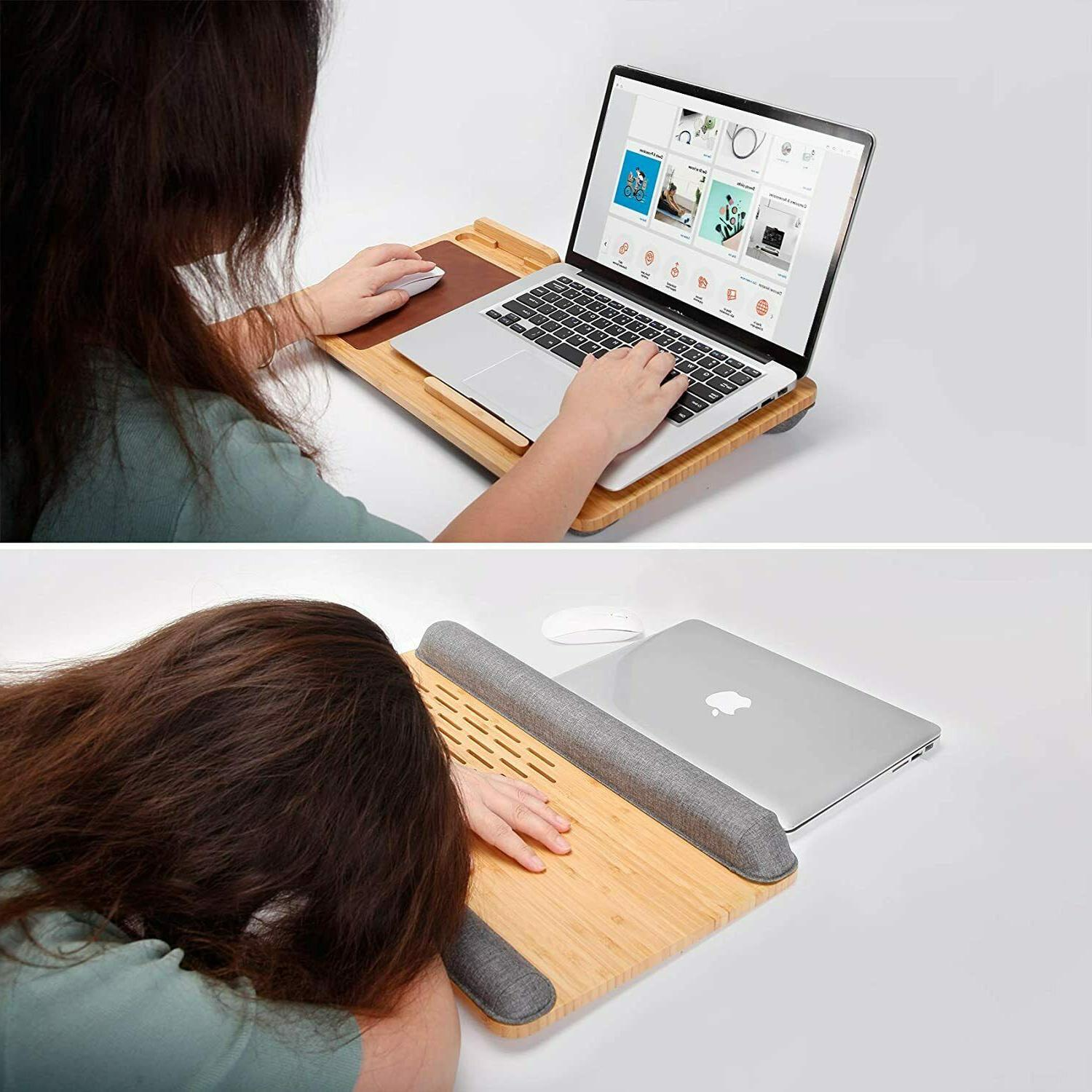 Laptop Desk Wooden with - inches Holder A