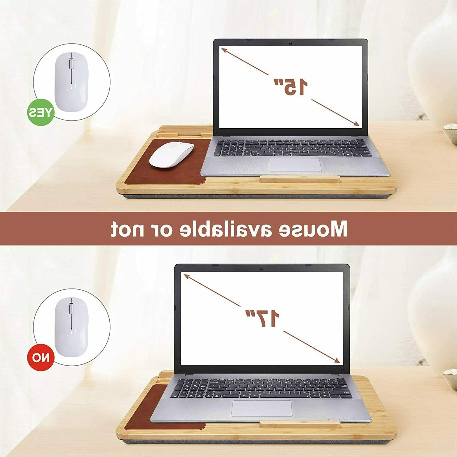 Laptop Desk Stand Wooden with Mouse Pad Fits up inches Holder Desk A