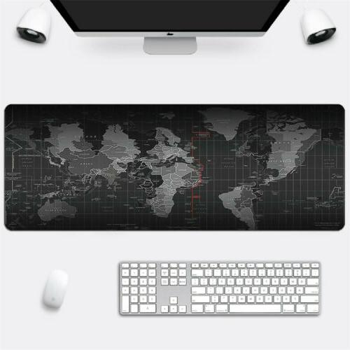 large 30x80cm gaming world map mouse pad