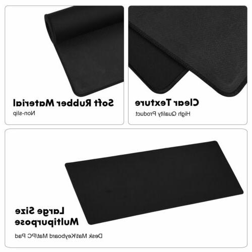 Large Mouse Gaming Size Desk Mat Black US