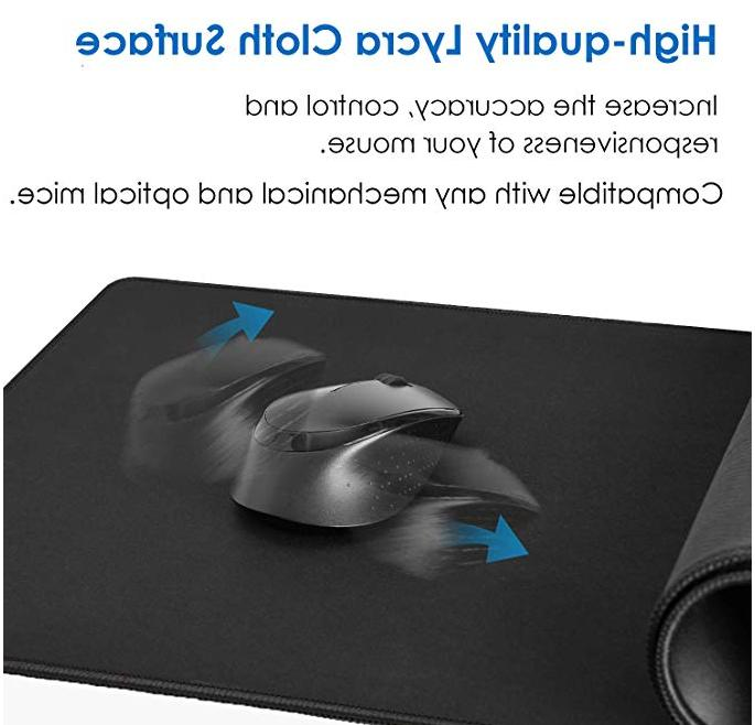 Large Extended Mouse Pad Edges waterproof