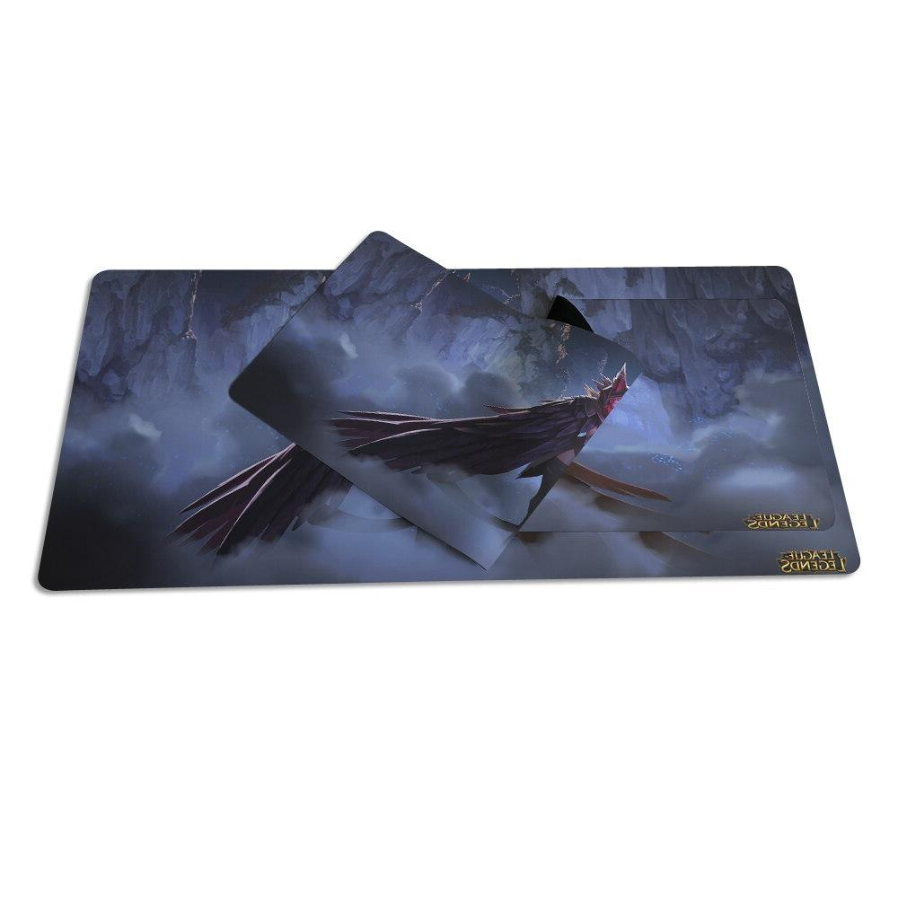 Large <font><b>Plain</b></font> Extended Anti-slip Natural Rubber mousepad Desk and Xayah