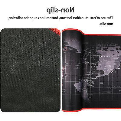 Large World Map Speed Game Mouse Pad