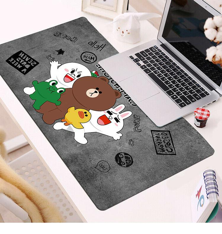 Line Brown Cony Mouse Keyboard Mat Large