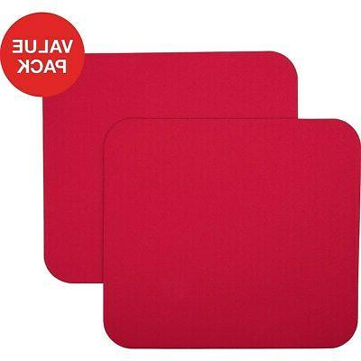 maroon mouse pad 2 count value pack