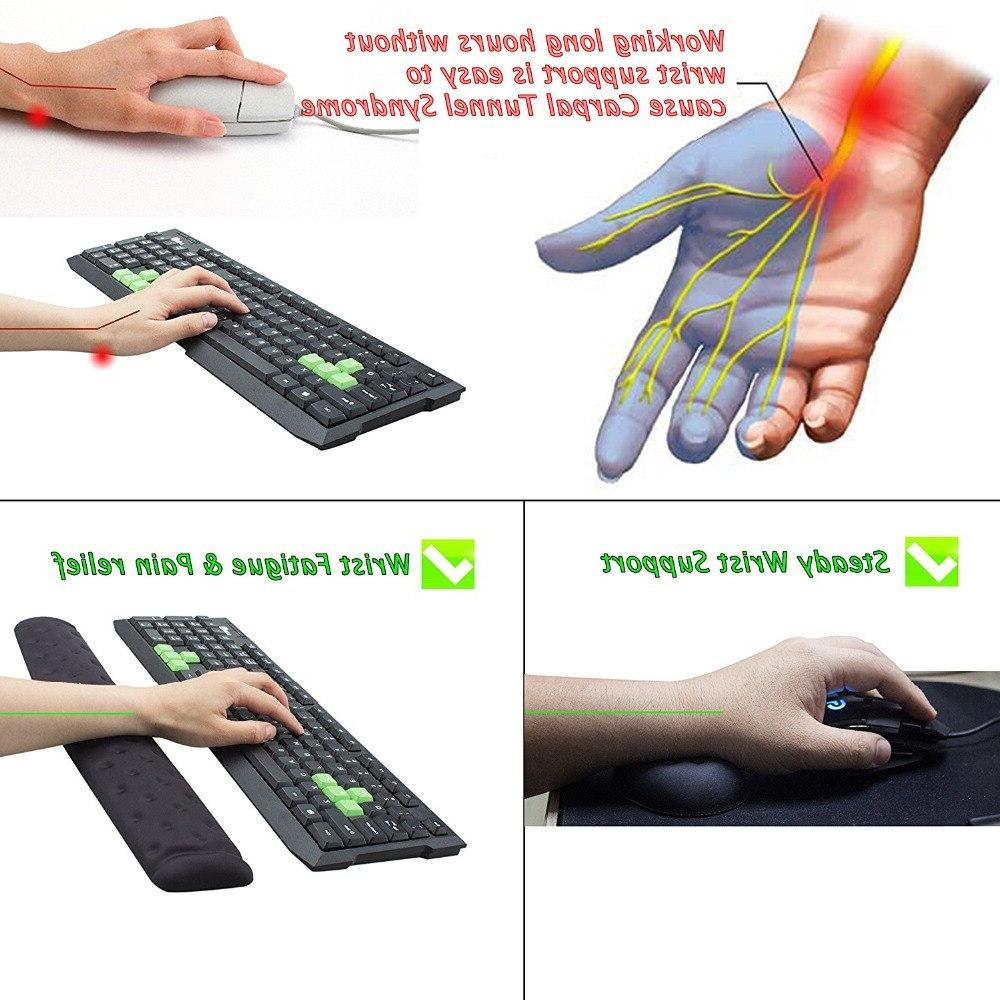 BRILA Memory <font><b>Mouse</b></font> Rest Support Cushion for PC Pain Relief