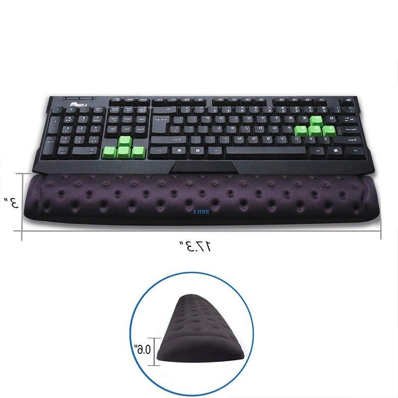 BRILA Memory <font><b>Mouse</b></font> & <font><b>Keyboard</b></font> Wrist Rest Cushion for Office and PC Relief
