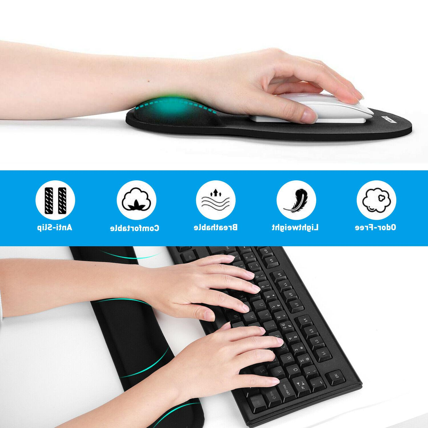 Memory Foam Gel Game and Wrist Rest Pad with