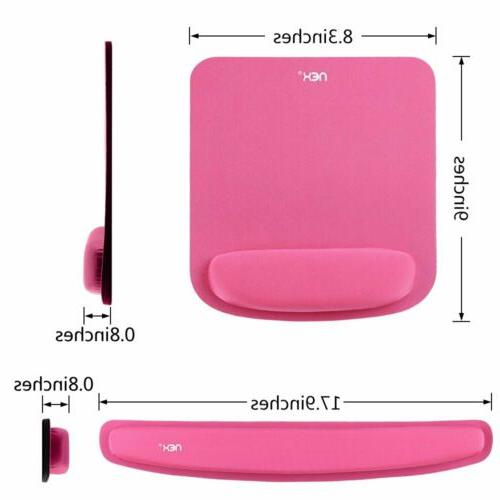 Memory Foam Rest Silica Gel Mouse Pad Wrist Support