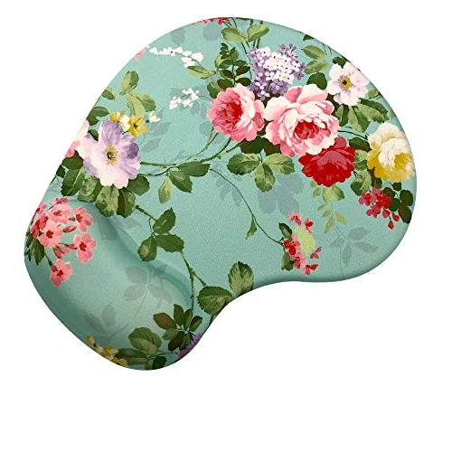 Memory Foam with Wrist Gorgeous Flower Ergonomic Mouse Wrist Rest, Super Base