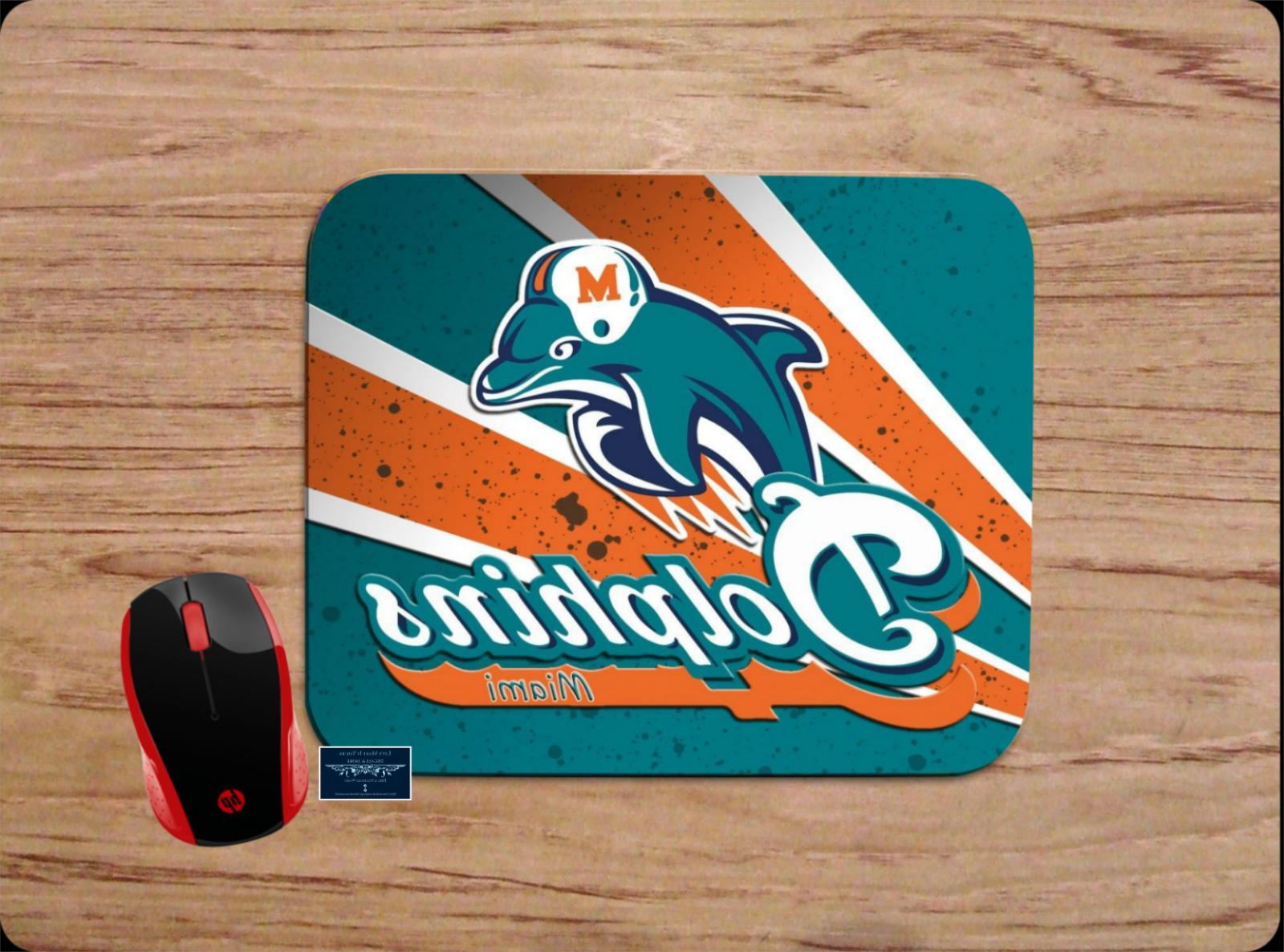 miami dolphins custom mouse pad mat computer