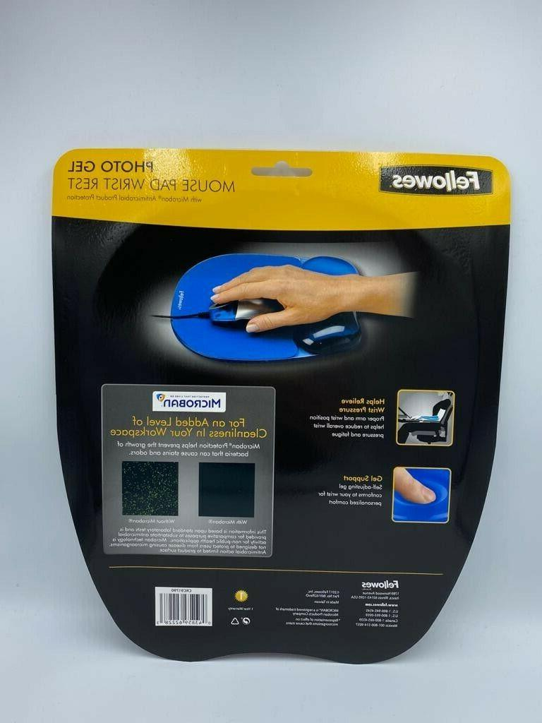 FELLOWES MICROBAN PHOTO GEL MOUSE PAD - NEW