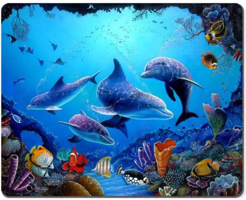 Wknoon Mouse Pad Amazing Colorful Underwater World Landscape