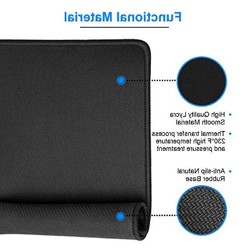 with Non-Slip Premium-Textured and Waterproof bulk Stitched Mouse Pad for Laptop, Office 11 x 8.5 3mm, 3 Pack, Black